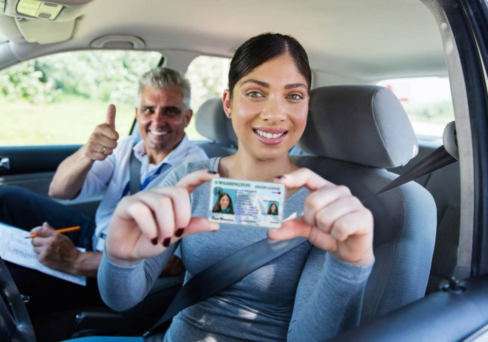 Woman-passes-Washington-drive-test-with-Defensive-Driving-School-1024x683-1